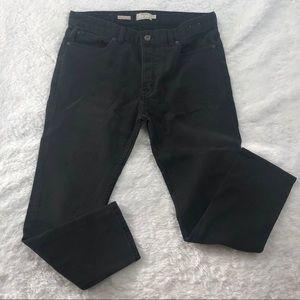 TOPMAN Cropped Stretch Slim Jeans